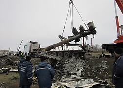 Wreckage of flight MH17.<br />Source: Ministry of Defence