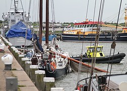 Breakage of mast Harlingen.<br />Source: ANP foto - Novum RegioFoto