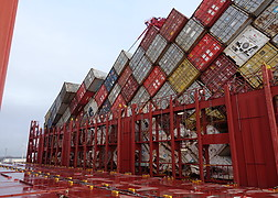Containers MSC Zoe.<br />Source: Dutch Safety Board