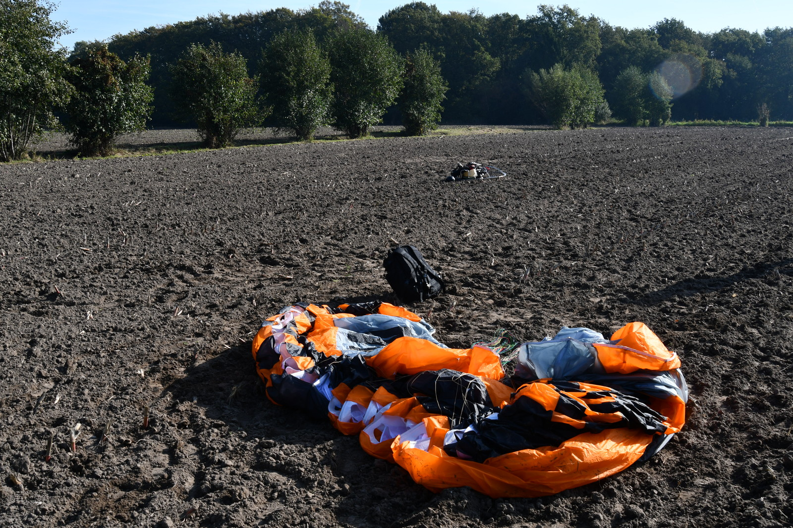Crash, Paramotor PAP 125, D-MVJV, Leusden, 10 October 2018