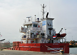 The ship on which the accident occurred.<br />(Source: Dutch Safety Board)